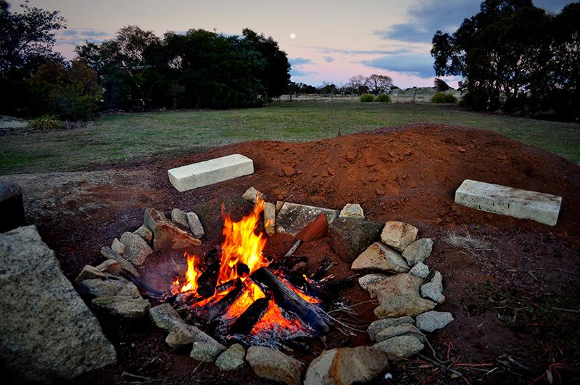Bonfire @Dog Rocks. PHOTO Lance Youston